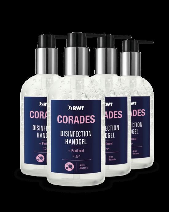 BWT Corades - Gel dezinfectant pentru maini + Pantenob provitamina B5 300 ml (pentru hidratarea si ingrijirea  mainilor)